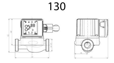Pompa elektroniczna RS 25/40 130 DIAMOND