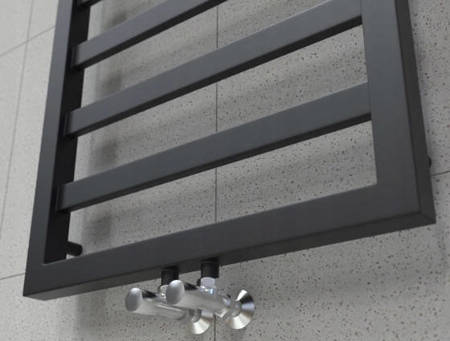 Grzejnik łazienkowy Natsumi 720x530 czarny