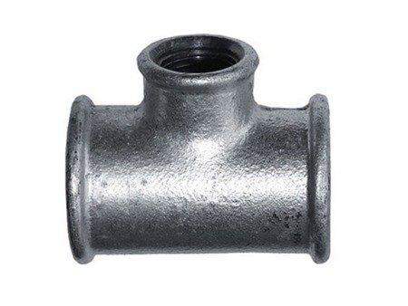 Trójnik ocynk ocynkowany redukcyjny 6/4x1 cala